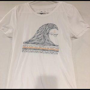 ROXY Wave Anchor White Tshirt Large